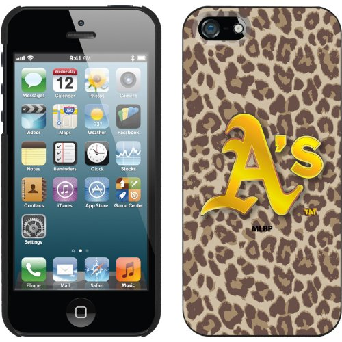 Great Price Oakland Athletics - Leopard Print design on a Black iPhone 5s / 5 Thinshield Snap-On Case by Coveroo