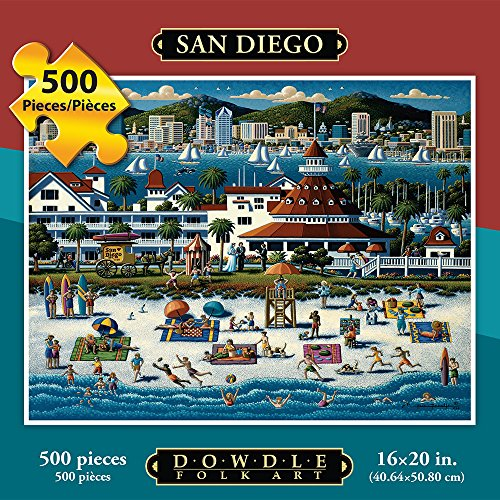 Jigsaw Puzzle - San Diego 500 Pc By Dowdle Folk Art (Building Cross Country Jumps compare prices)