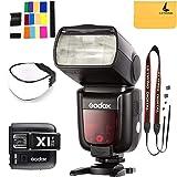 Godox TT685N Thinklite TTL Camera Flash High Speed 1/8000s GN60 Compatible for Nikon Cameras I-TTL II Autoflash,Godox X1T-N 2.4 G Wireless Flash Trigger Transmitter Compatible for Nikon Series Cameras