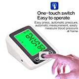 Huaaag Smart Electronic Blood Pressure Monitor Upper Arm Blood Pressure Meter Automatic Sphygmomanometer Pulsometer, with 3-Color Hypertension Backlit Display and Pulse Meter