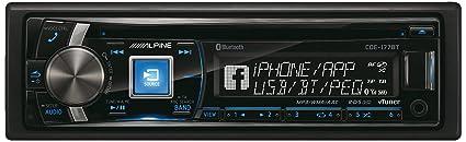 Alpine CDE-177BT Autoradios 200 W Bluetooth, En Façade