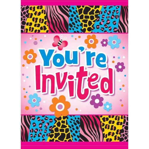 Cheapest Price! Wild Birthday Invitations, 8ct