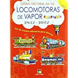 (s/dev) locomotoras de vapor 1857-1927 - coloreables