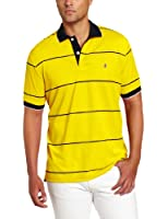 IZOD Men's Short Sleeve Stripe Pique Polo