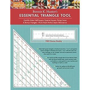 fast2cut Bonnie K. Hunter's Essential Triangle Tool: Quickly Make Half-Square, Quarter-Square, Flying Geese & Bonus Triangles • Plus Mark Perfect Se