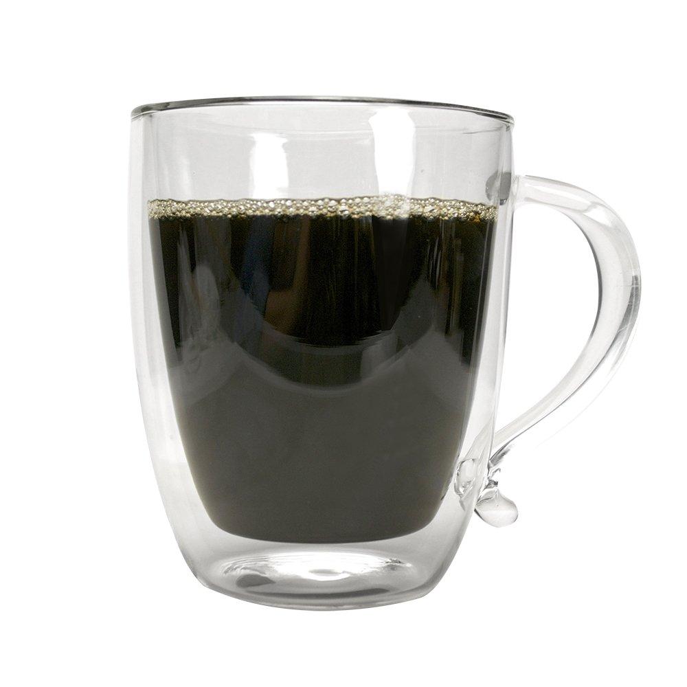 primula double wall borocilicate 16 ounce glass coffee mug new free shipping ebay. Black Bedroom Furniture Sets. Home Design Ideas