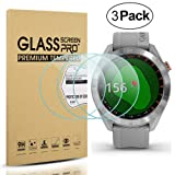 Diruite 3-Pack for Garmin Approach S40 Screen Protector Tempered Glass [2.5D 9H Hardness] [Anti-Scratch] [Bubble-Free] - Permanent Warranty Replacement (Color: clear)