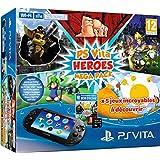 Console Playstation Vita 2000 + Voucher Heroes Mega Pack + Carte Mémoire 8 Go