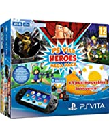 Console Playstation Vita 2000 + Voucher Heroes Mega Pack + Carte Mémoire 8 Go
