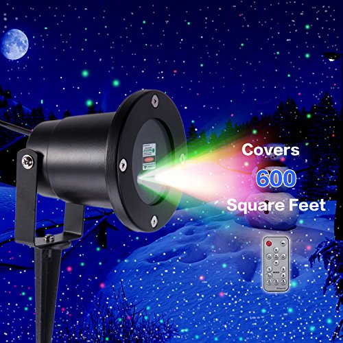 Y-ZONE MagicPrime Wireless Control Laser Christmas Lights, Star Projector, IP65 Waterproof for Seasonal Décor, Christmas Holiday, Wedding, Party