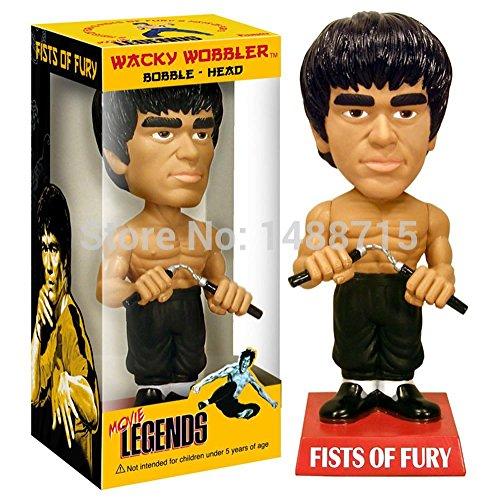 [China Bruce Lee Super Kung Fu Star Enter The Dragon Funko Wacky Wobble Bobble Head 18CM Figure Toys] (Bruce Lee Enter The Dragon Costume)