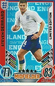 Match Attax England Euro 2012 Steven Gerrard Limited Edition from Topps