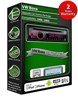 VW Bora Autoradio CD MP3 radio Clarion joue iPod/iPhone/Android