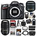 Nikon D7100 Digital SLR Camera with 18-55mm & 55-300mm VR Lenses, WU-1a, Bag & 32GB Card + Flash + Battery + Tripod + Filters + Remote + Kit