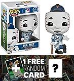 Mr. Met of New York Mets: Funko POP! x MLB Mascots Vinyl Figure + 1 FREE Official MLB Trading Card Bundle [38311]