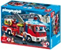 PLAYMOBIL–4820–Spiel-Bau–Feuerwehrauto Große Leiter