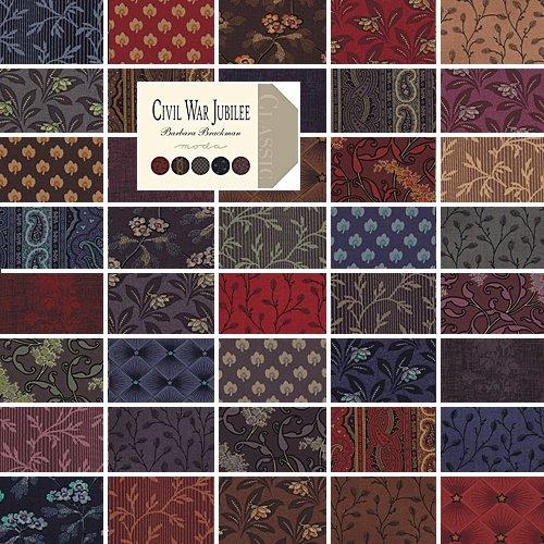 Moda CIVIL WAR JUBILEE Precut 5-inch Charm Pack Cotton Fabric Quilting Squares Assortment Barbara Brackman 8250PP