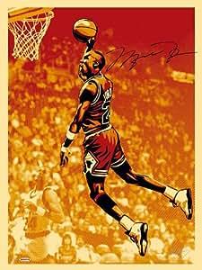 Michael Jordan Signed Shepard Fairey Silkscreen Print 3 Set Collage LE 50 - FRAMED - Upper Deck Certified