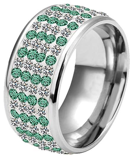YZQMY Women's Steel Wedding Ring
