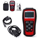 OBD2 MaxiScan MS509 KW808 OBDII EOBD Scanner Car Code Reader Tester Diagnostic (Red) (Color: Red)