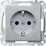 Merten MEG2300-0460 SCHUKO-Steckdose, erhöhter Berührungsschutz, Steckklemmen, aluminium, System M