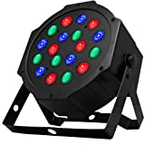 Stage Par Lights - Costech Sound Activated DJ Lighting; Strobe Lamp Stage light; Disco Ball Wash Lights; 18 LED Auto-Run & DMX512 Control Mode for Clu