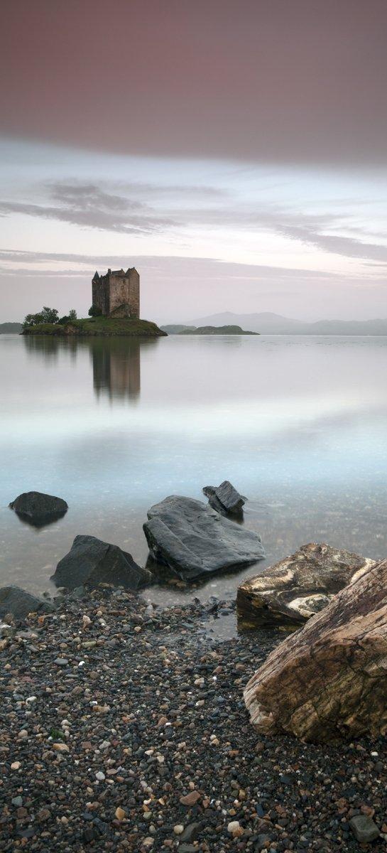 Selbstklebende Türtapete Schloss in Schottland  93 x 205 cm in PremiumQualität Abwischbar, brillante Farben, rückstandsfrei zu entfernen   Bewertungen und Beschreibung