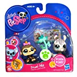 Hasbro Year 2010 Littlest Pet Shop Pet Pairs Prized Pets Series Bobble Head Pet Figure Set - Brown Monkey (#1936...