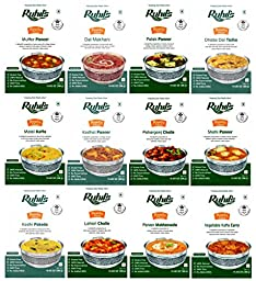 Ruhil\'s Ready To Eat Meal Just Heat & Eat Variety Pack of 12