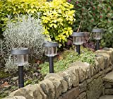 Solar-Powered LED Garden Lights, 'Lifetime replacement Guarantee', Perfect Neutral Design; Makes Garden Pathways & Flower Beds Look Great; Easy NO-WIRE Installation; All-Weather/Water-Resistant.