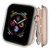 AdMaster Screen Protector for Apple Watch Series 4 40mm, Full Around Protective Clear Case Ultra-Thin Clear TPU Cover for iWatch Series 4 (2 Pack) (Color: Clear, Tamaño: 40mm)