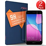 SLEO Huawei Y6 Pro 2017/P9 Lite Mini/Enjoy 7 Screen Protector - Premium Surface Hardness Crystal Clear Tempered Glass Screen Protector Guard Cover for Huawei Y6 Pro 2017/P9 Lite Mini/Enjoy 7 - 2 Pack