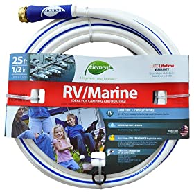 Colorite Element ELMRV12025 Marine/RV Lead Free Drinking Water Safe 1/2-Inch by 25-Foot Water Hose