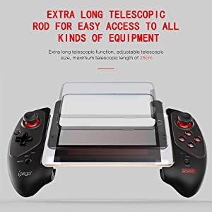 ipega-PG-9083S Wireless 4.0 Smart Gamepad Controller Mobile Joystick Compatible Phone8/XR/XS Galaxy S10/S10+ /VIVO X27 iOS/Android Mobile Phone Tablet (Android 6.0 or, iOS11.0 Higher System)