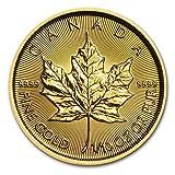 カナダ メイプルリーフ 5ドル金 ゴールド コイン 3.11グラム 2016年製造 24K 1/10オンス 純金 インゴット