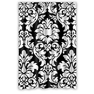 Generic Personalized Black And White Damask