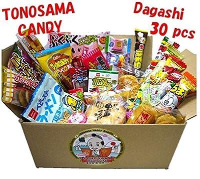 "Japanese candy assortment 30pcs , full of dagashi. ""TONOSAMA CANDY"" from Iwatsuka-seika, Suguru,Oyatsu-conpany, Meito etc."