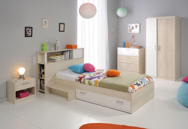 Parisot Kinderzimmermöbel-Set 3tlg. Charly 16 Kinderzimmermöbel-Set 3tlg. in der Farbe Akazie / Weiss Melamin günstig kaufen