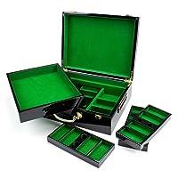 High Gloss Wooden 500 Piece Poker Chip Case