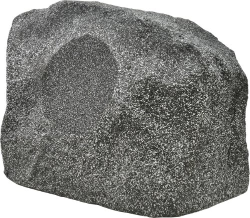 OSD Audio RS800TT 8-inch High Powered Single Stereo Dual Voice Coil Outdoor Rock Speaker Single, White Granite