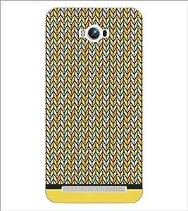 PrintDhaba Zig Zag Pattern D-1695 Back Case Cover for ASUS ZENFONE MAX ZC550KL (Multi-Coloured)