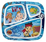 Zak Designs Jake and The Never Land Pirates 3-Section Plate, Set of 6