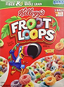 ... Froot Loops Cereal 43.6 Total Ounce Two Bag Value Box: Fruit Loops