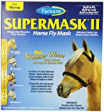Farnam Supermask II Fly Mask Eye Care for Horse, Copper Mesh/Black Trim
