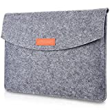 ProCase 13 - 13.5 Inch MacBook Pro 2016/ MacBook Air/ Retina Macbook Pro/ Surface Book / 12.9 Inch iPad Pro Sleeve Case Cover Ultrabook Netbook Carrying Case Protector Bag -Grey