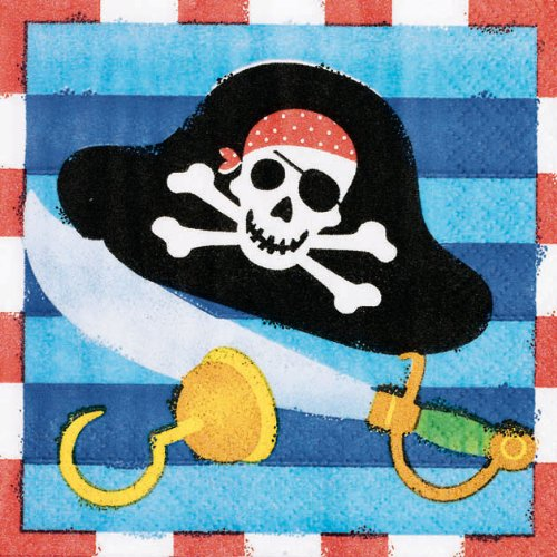 Amscan Pirate's Treasure Beverage Napkins 16 Ct.