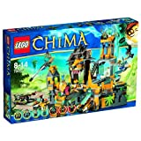 Lego Legends of Chima - Playthèmes - 70010 - Jeu de Construction - Le Temple de la Tribu Lion