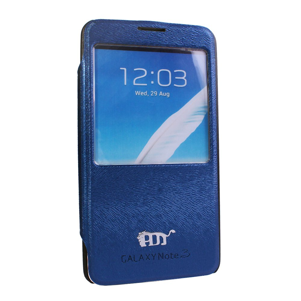Pdncase Samsung Note 3 Cover Flip Case - Blue