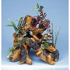 Penn Plax Super Driftwood Garden, Aquarium Ornament