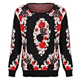 Jovonnista Womens Floral Despina Rose Knitted Jumper Sweater